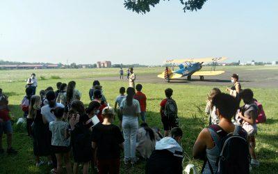 Visite de l'aérodrome par l'Ecole Saint Anne